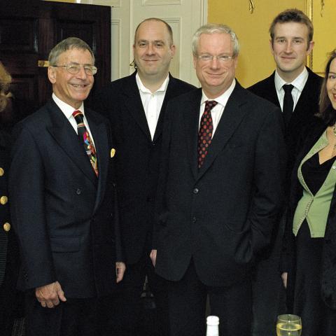 The Man Booker Prize 2004 judges Fiammetta Rocco, unknown, Tibor Fischer, Chris Smith (Chair), Robert Macfarlane and Rowan Pelling