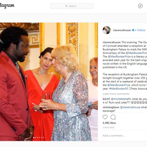 Buckingham Palace - Clarence House Instagram July 2018