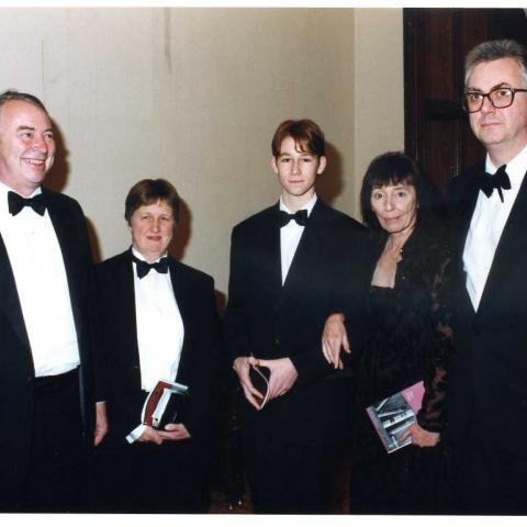 Jonathan Taylor with Beryl Bainbridge and guests (c) Susan Greenhill 1998